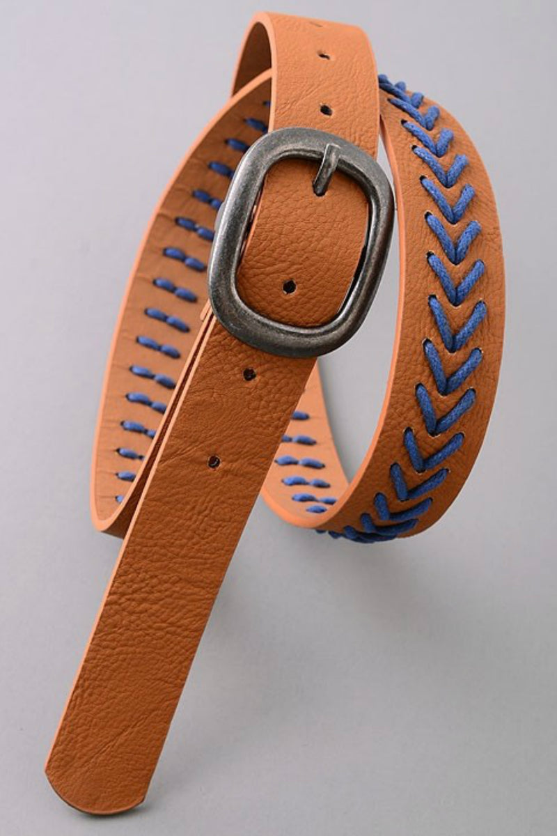 Brown Stitch Belt