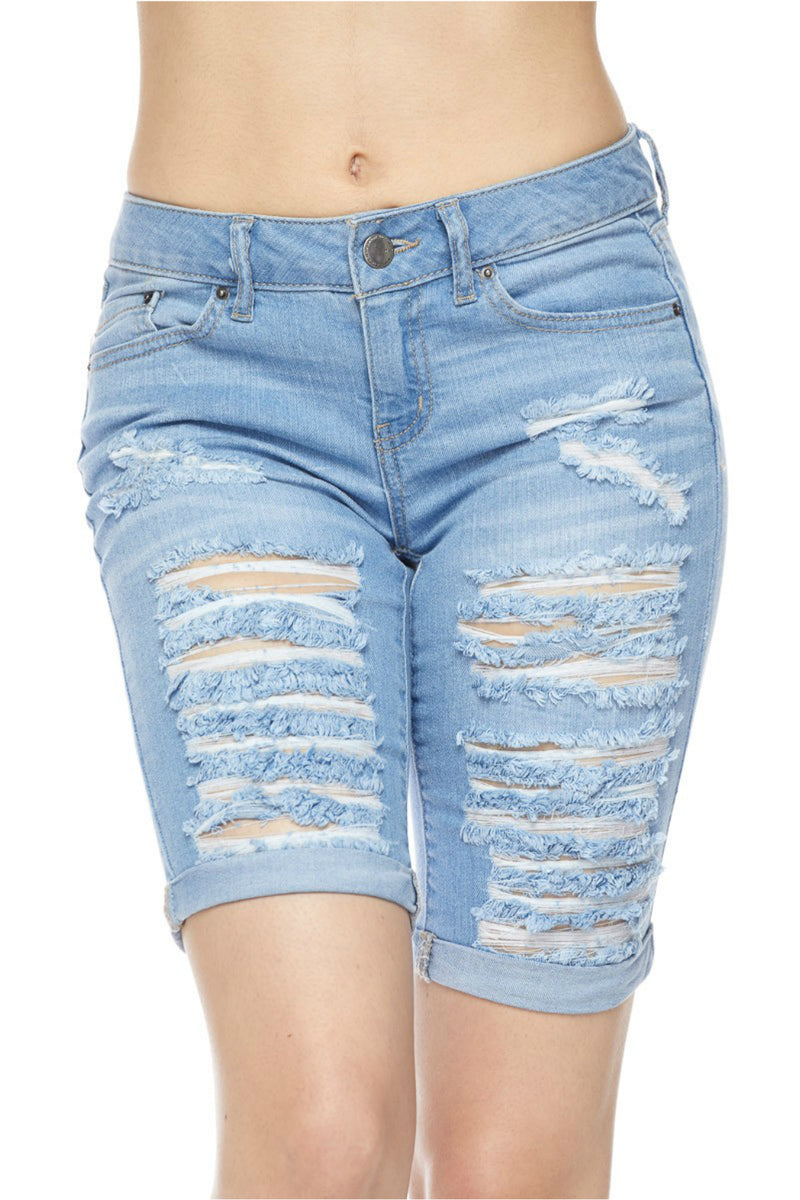 Light Bermuda Denim Shorts