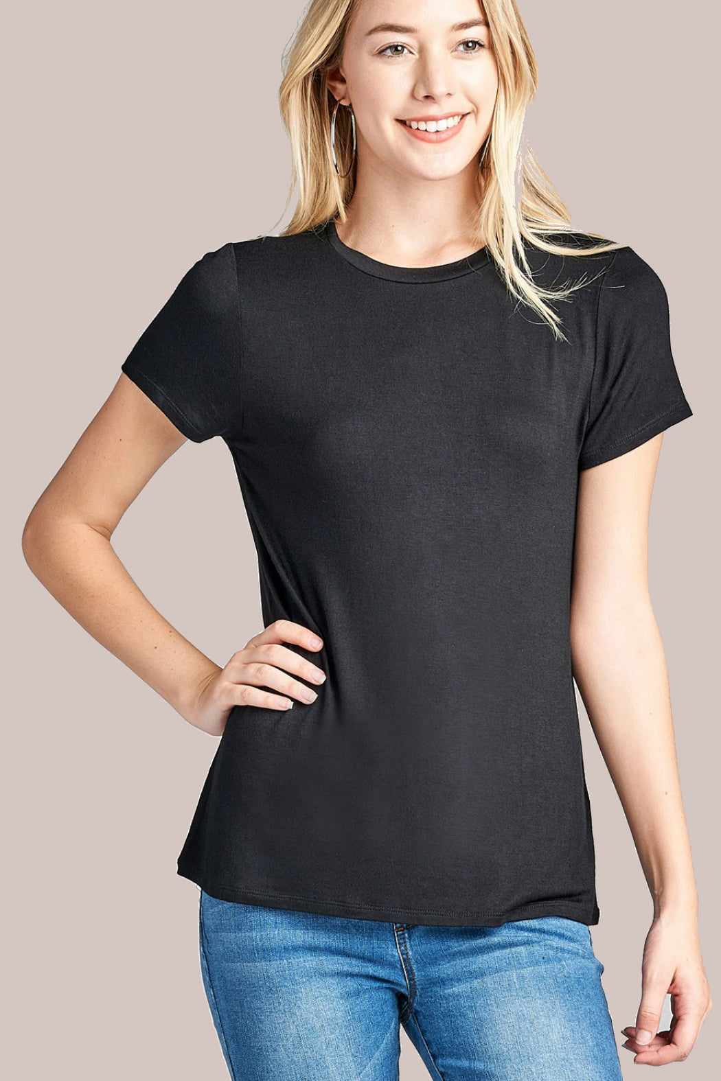 Black Basic Bee Tee