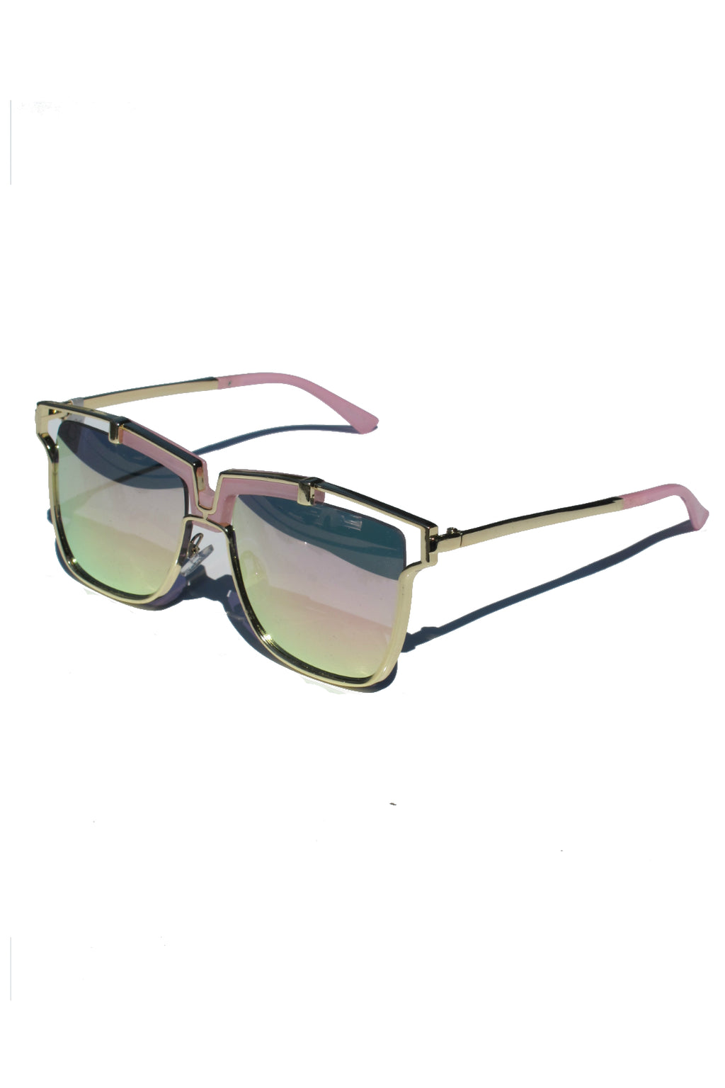 Pink Mirror Lala Sunglasses