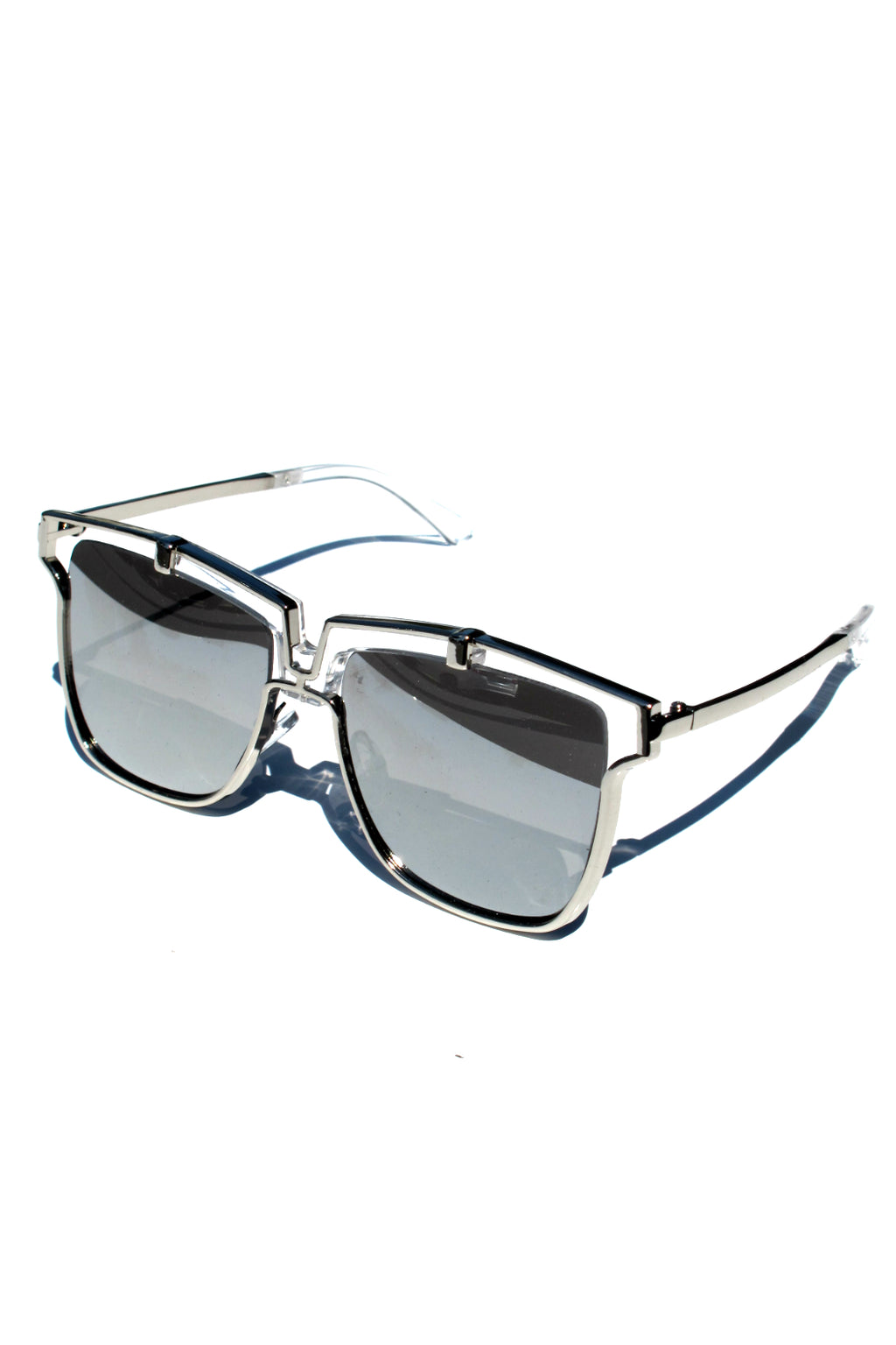 Silver Mirror Lala Sunglasses