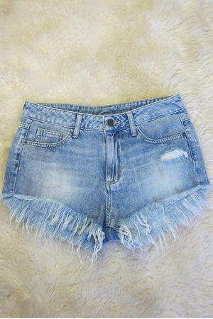 Fray Denim Shorts-3 LEFT!