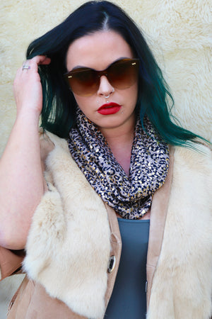 Speckled Leopard Infinity Scarf-1 LEFT!