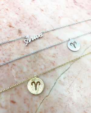 Aries Zodiac Necklaces
