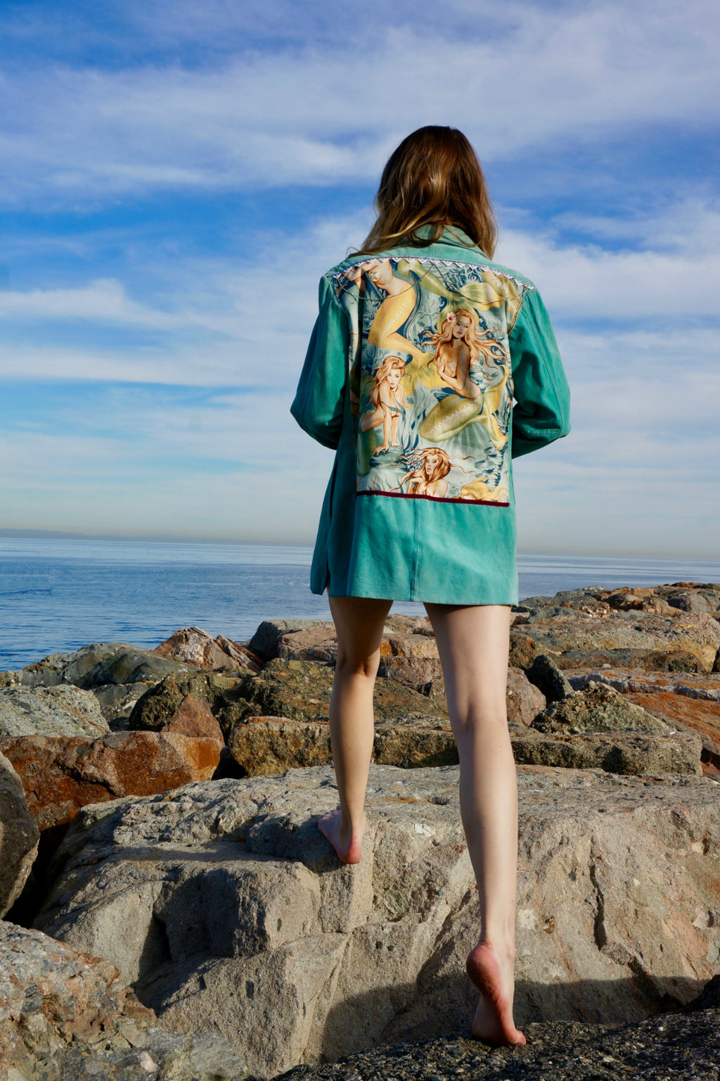 Siren Seafoam Leather Jacket