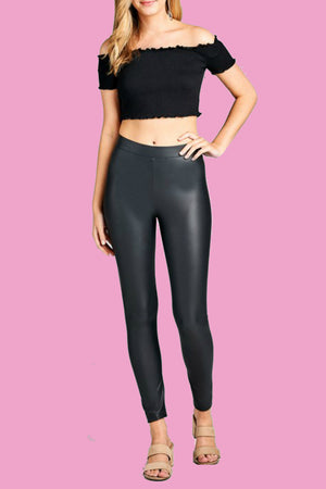 Pick Up Pleather Leggings-1 LEFT