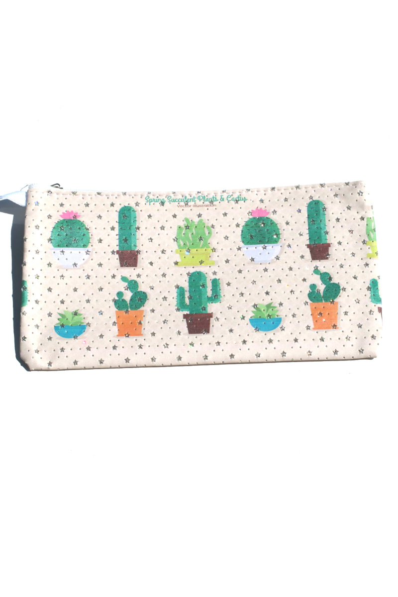 Spring Succulent Pouch