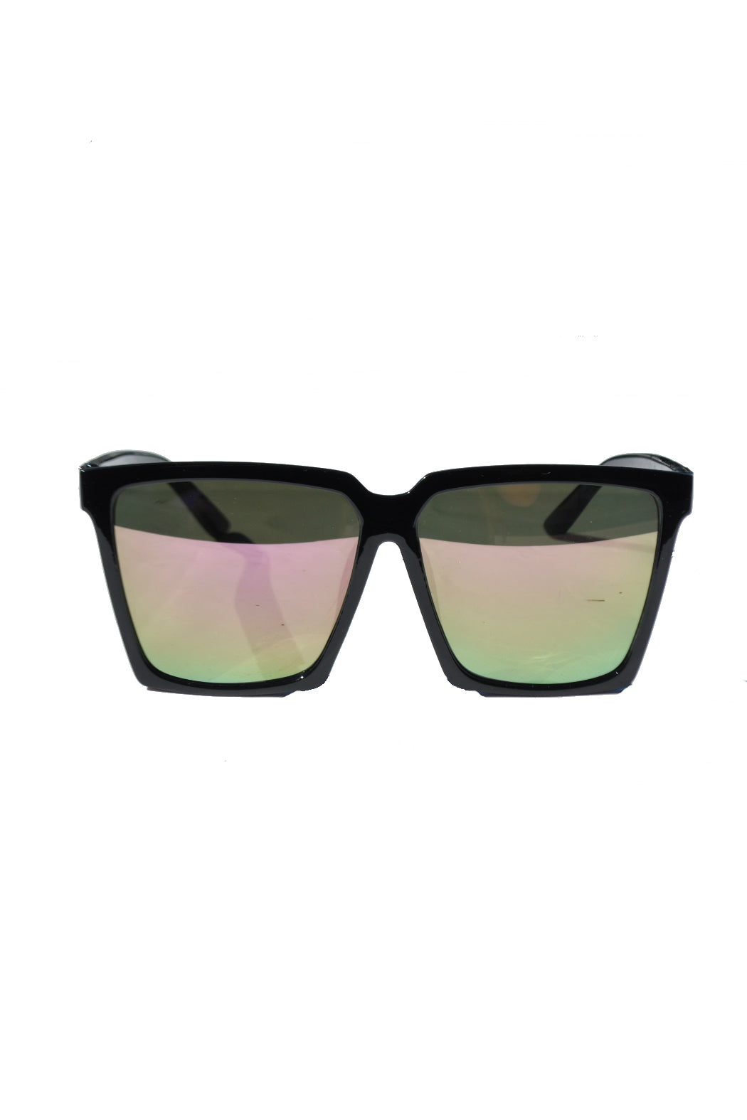 Light Pink Mirrored Square Sunglasses