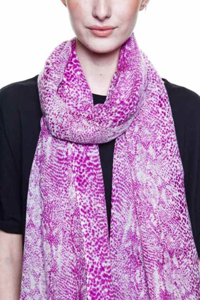 Delphi Berry Wool Scarf