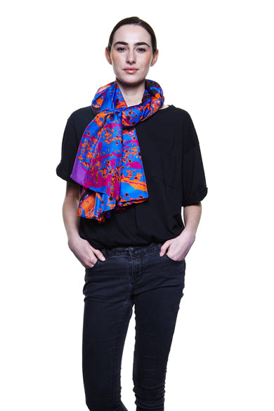 Amber Butterfly Silk Scarf- out of Stock
