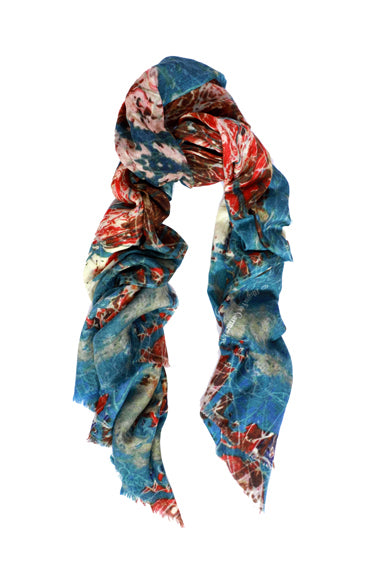 Ocean Of FantasyWool Silk Scarf