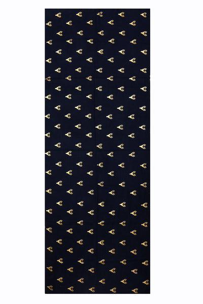Stag Navy Blue Wool & Silk Scarf- Out of Stock