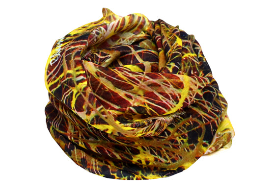 Hyperdrive Yellow Painting Modal Scarf