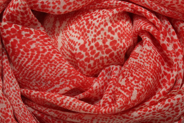 Delphi Red Wool Scarf