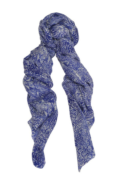 Delphi Blue Wool Scarf