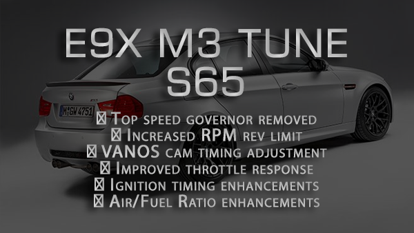 Performance tune for E9x M3 (2008-2013)