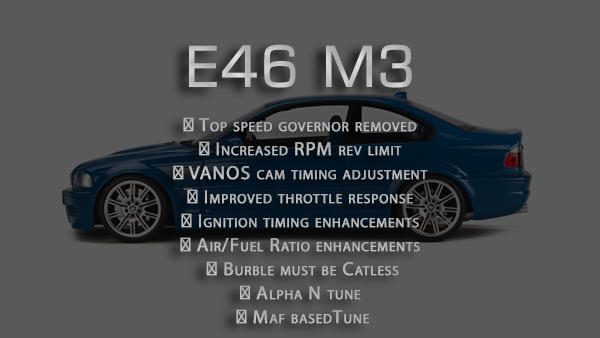 Performance tune for E46 M3