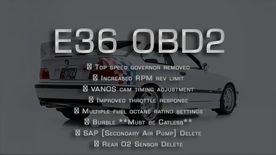 Performance tune for OBD2 E36 3-series (1996-1999)