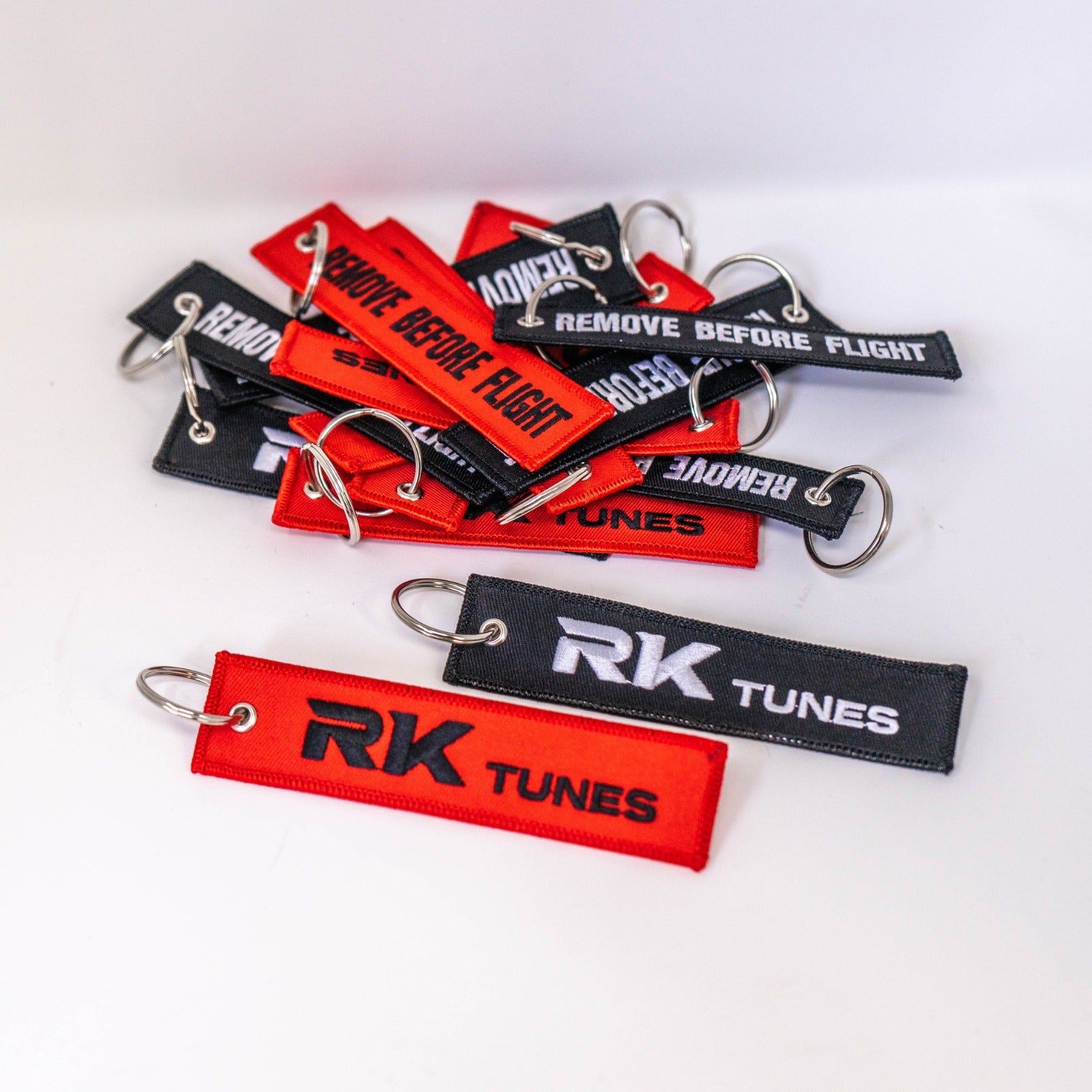 RK-Tunes Remove Before Flight Keychain
