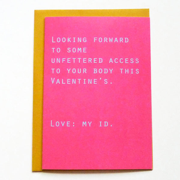 A card from your id. Sexy Valentine's Day card