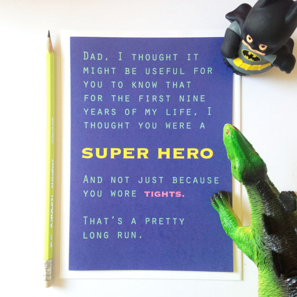 Dad Superhero card - funny father's day card