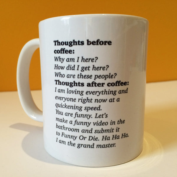 Thoughts before coffee - mug