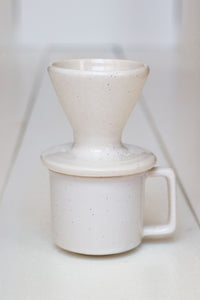 The Camper Mug & Pour Over Set - White Speckled