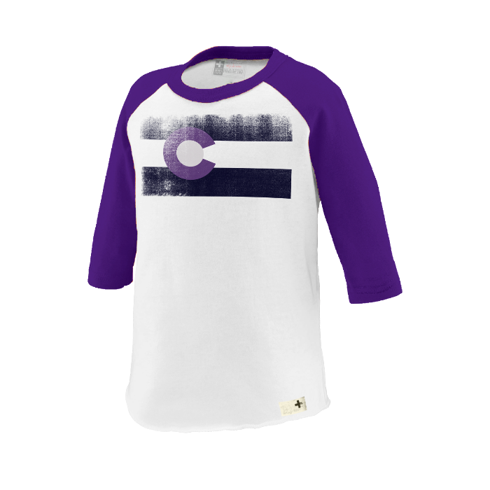 Colorado baseball purple flag shirt - Unlimited 83
