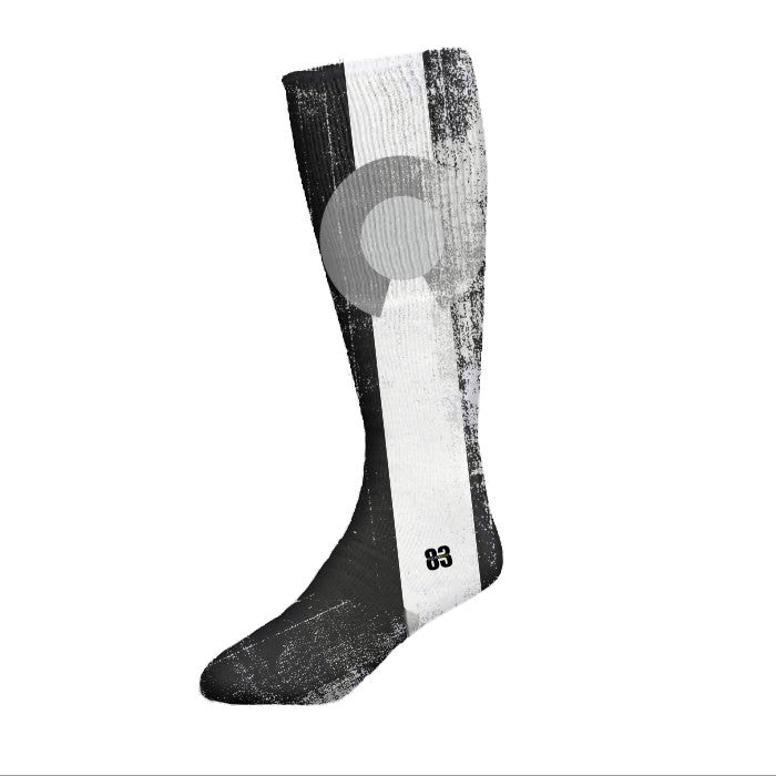 Socken Haus Colorado Black and White flag Socks - Unlimited 83
