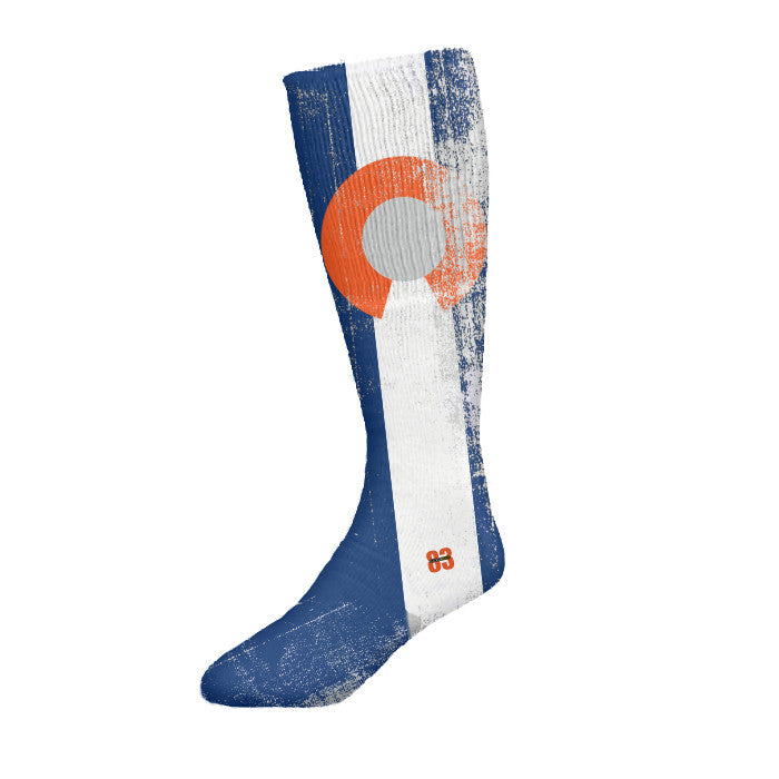 Socken Haus Colorado Orange and blue flag Socks - Unlimited 83