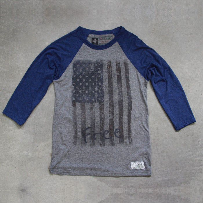 America the Free Baseball T-shirt - Unlimited 83