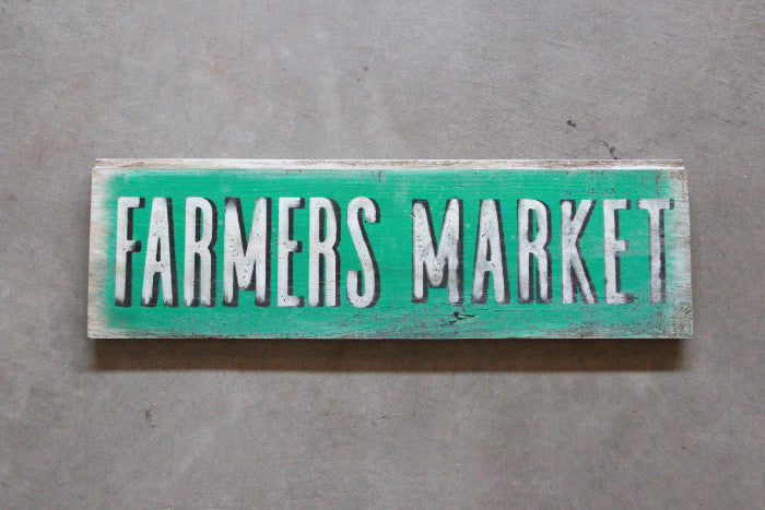 Vintage Barn Wood Sign Farmers Market - Unlimited 83