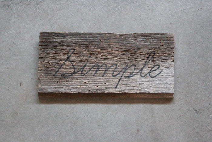 Vintage Barn Wood Sign Simple - Unlimited 83