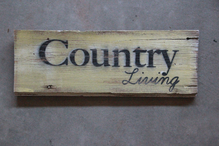 Vintage Barn Wood Sign Country Living - Unlimited 83