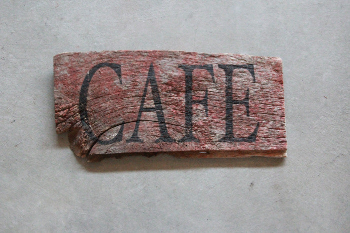 Vintage Barn Wood Sign Cafe - Unlimited 83