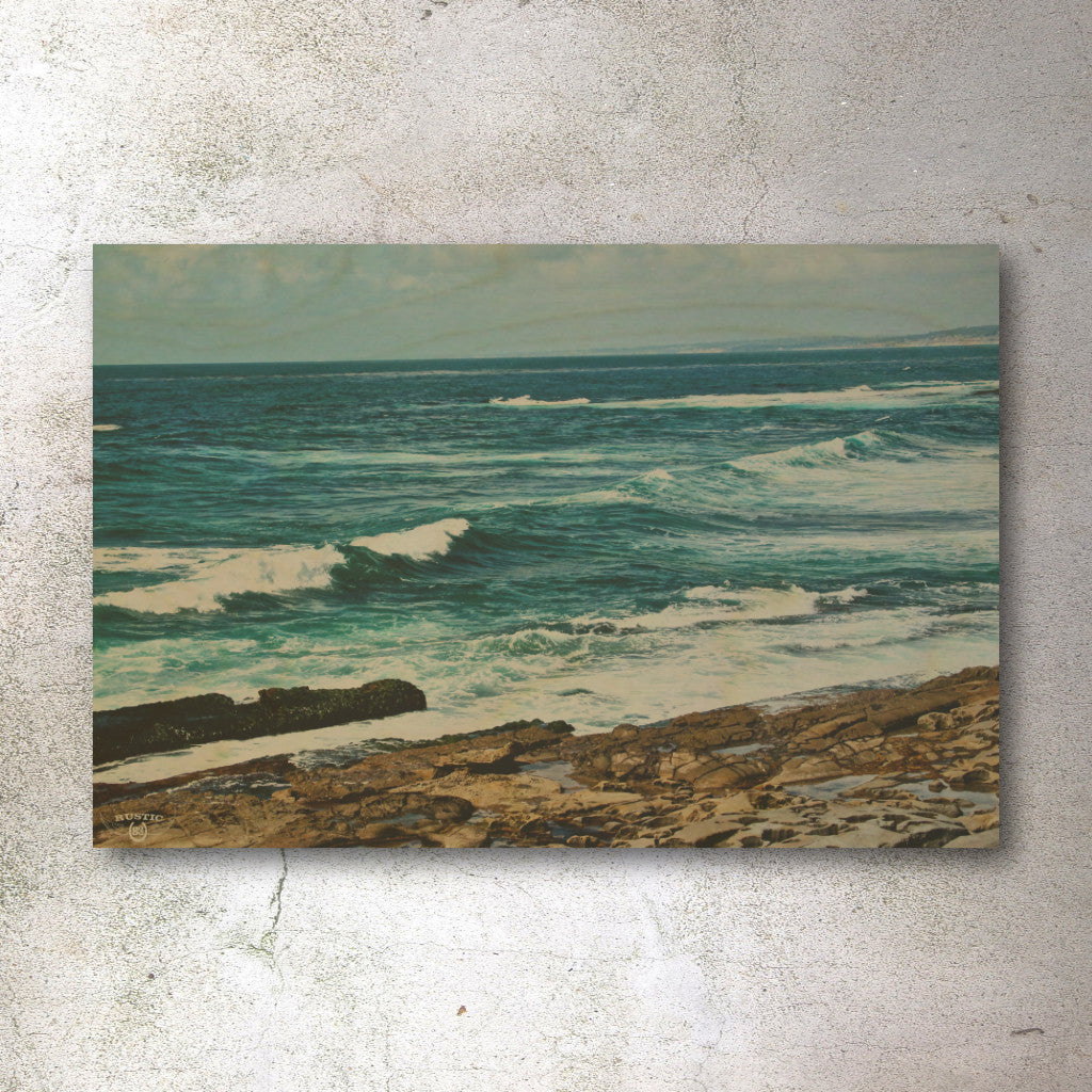 Rustic print ocean coast of southern California - Unlimited 83