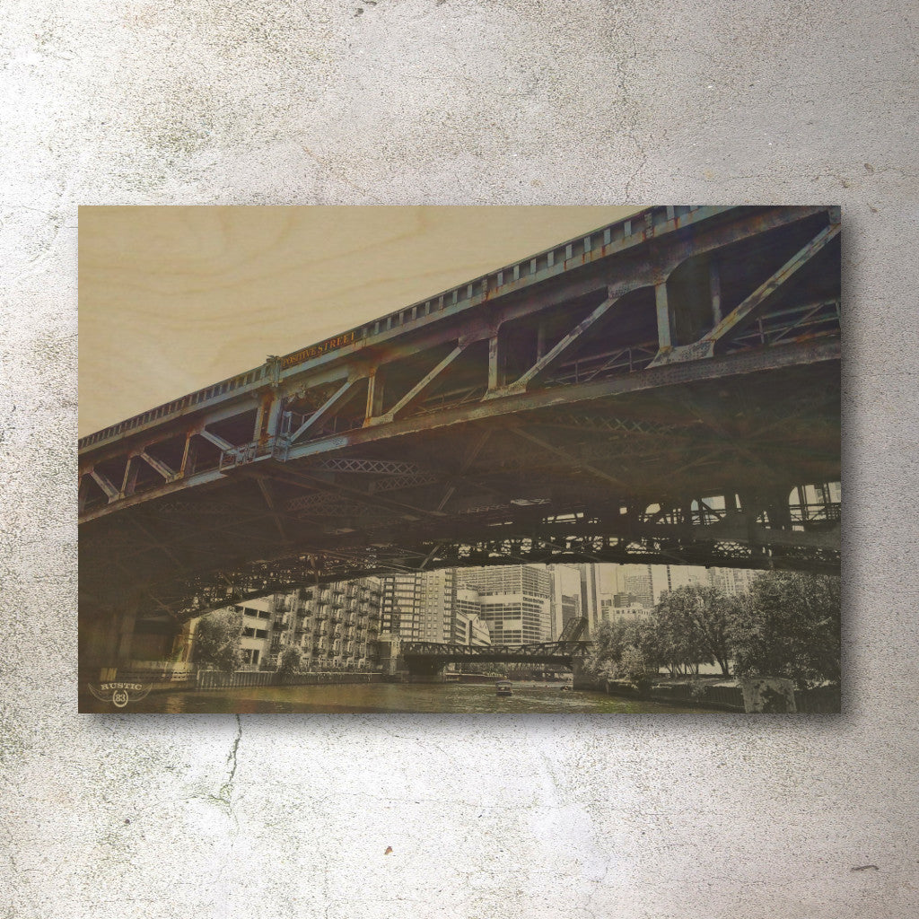 Rustic print Chicago Bridge - Unlimited 83