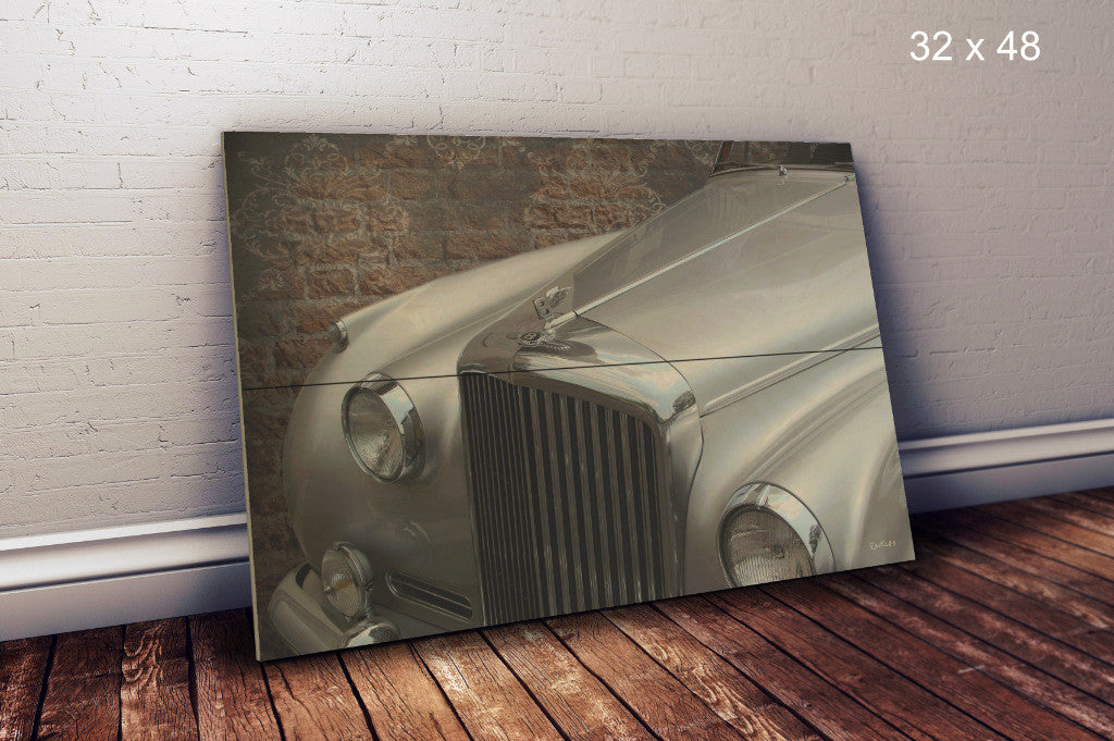 Vintage automobile printed on wood - Unlimited 83