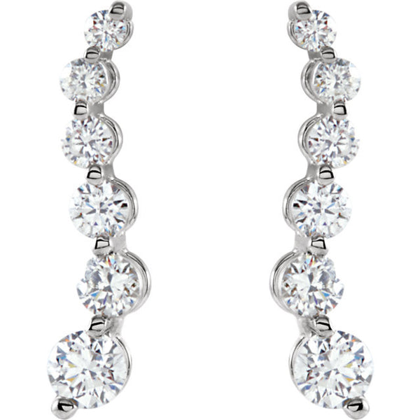 Journey Diamond Earrings 1/2 CTW 14K White
