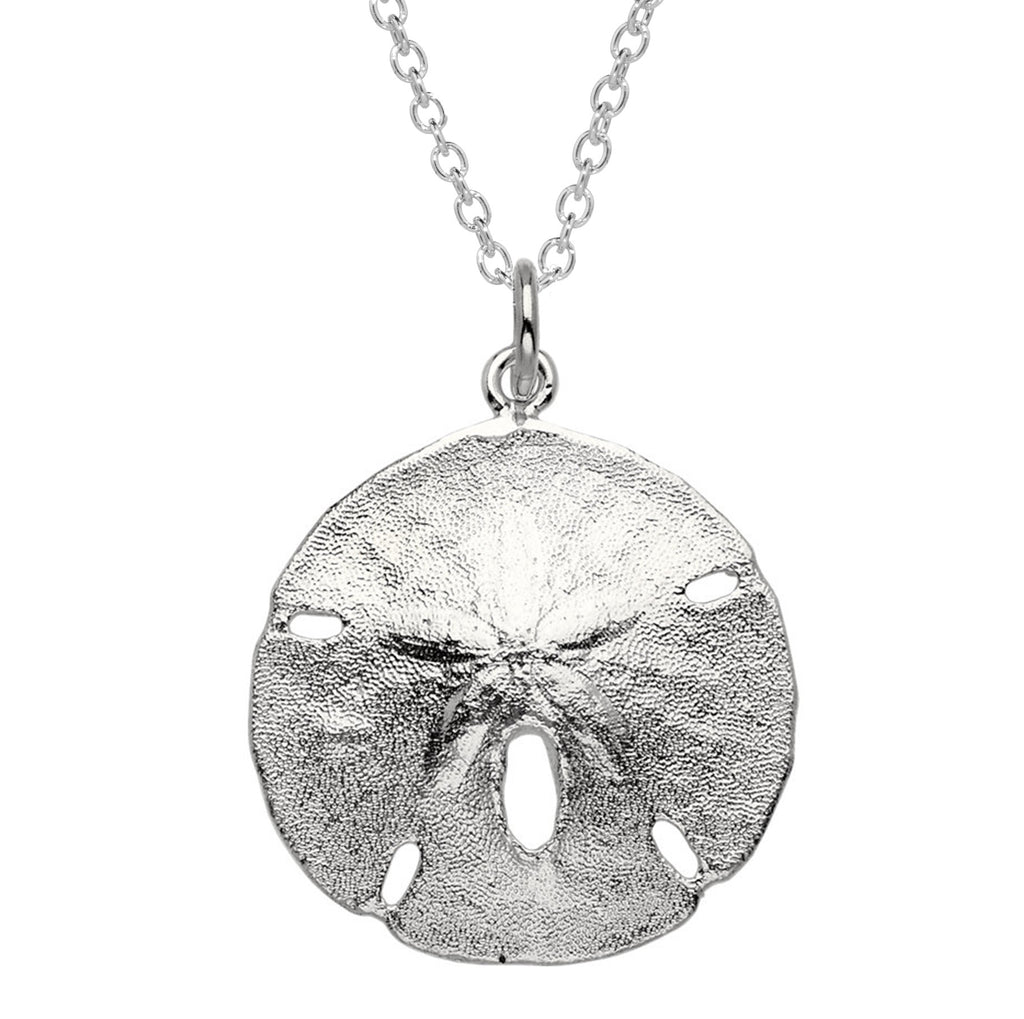 Sand dollar sterling silver necklace jrf company sand dollar necklace sterling silver mozeypictures Choice Image