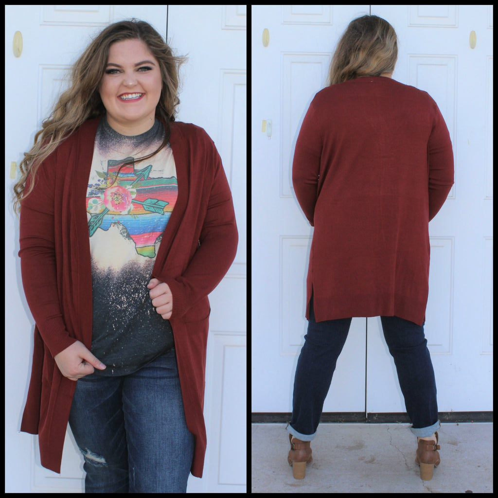 PLUS Back To Basics Brick Cardigan