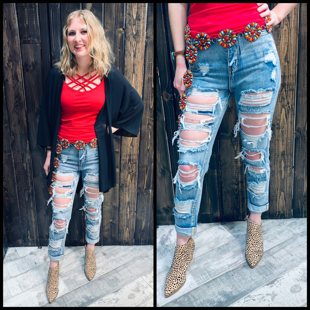 Cool For The Summer Ripped Jean