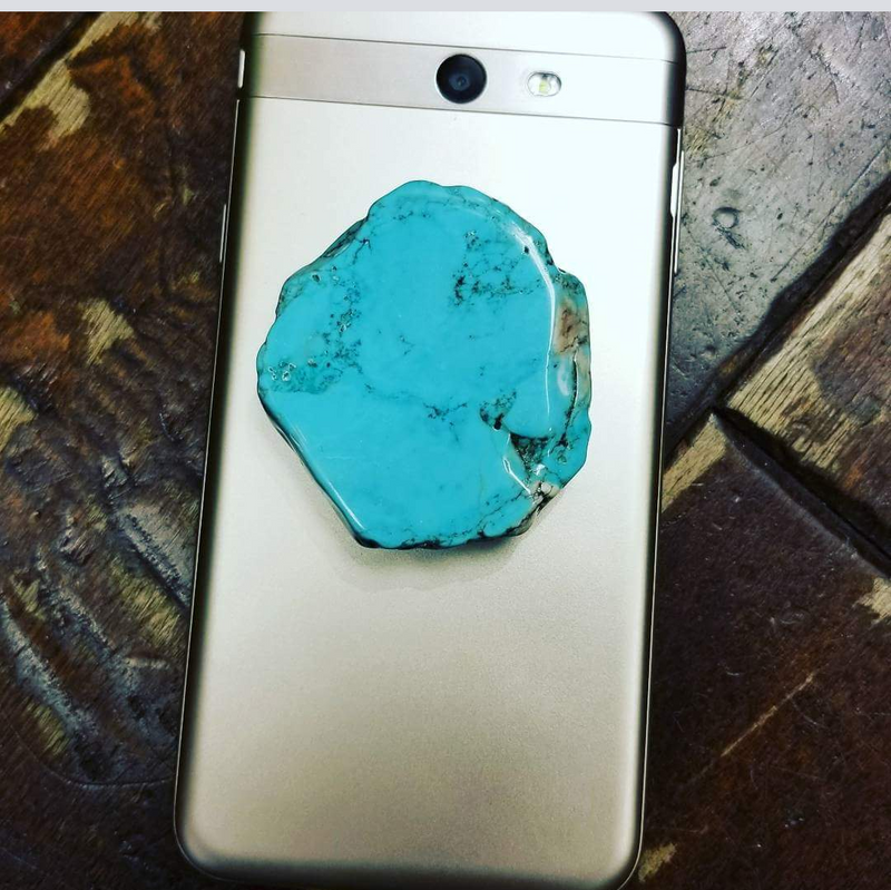 Colored Turquoise Slab Phone Grip