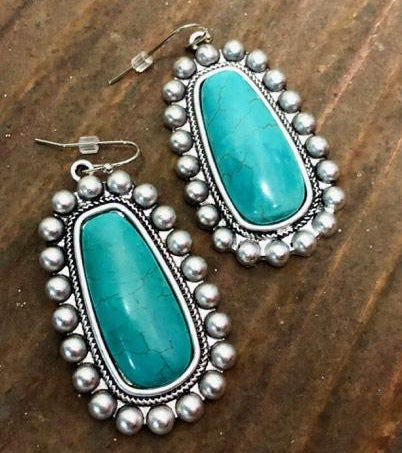 Tiki Turquoise Earrings