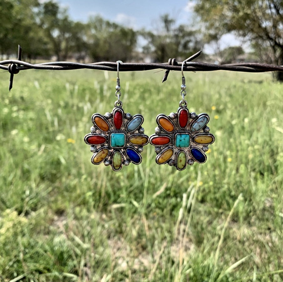 Colorful Dandelion Earrings