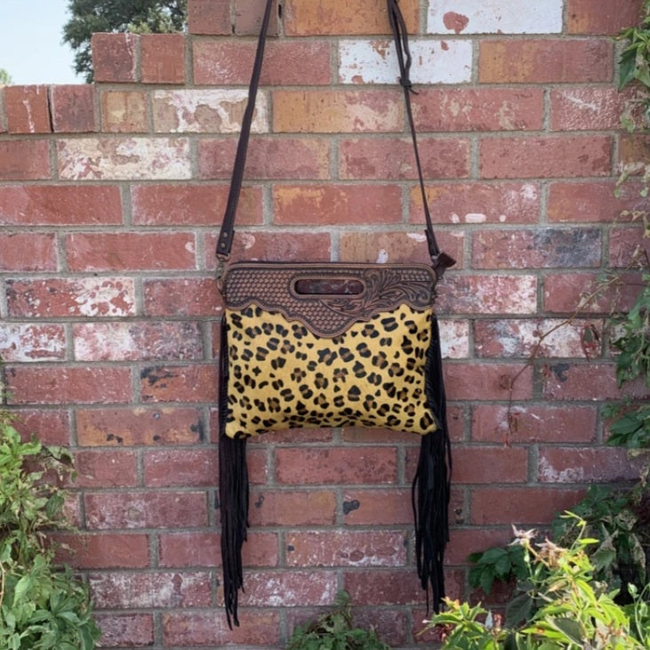 American Cheetah Clutch Bag