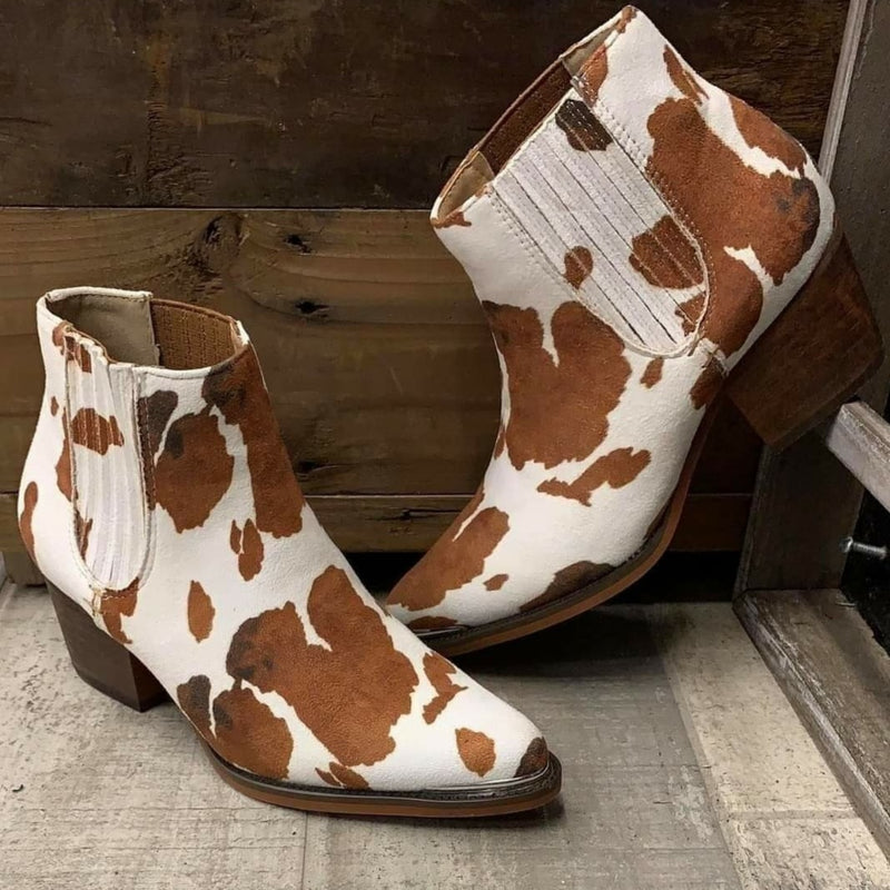 Out West Cow Bootie
