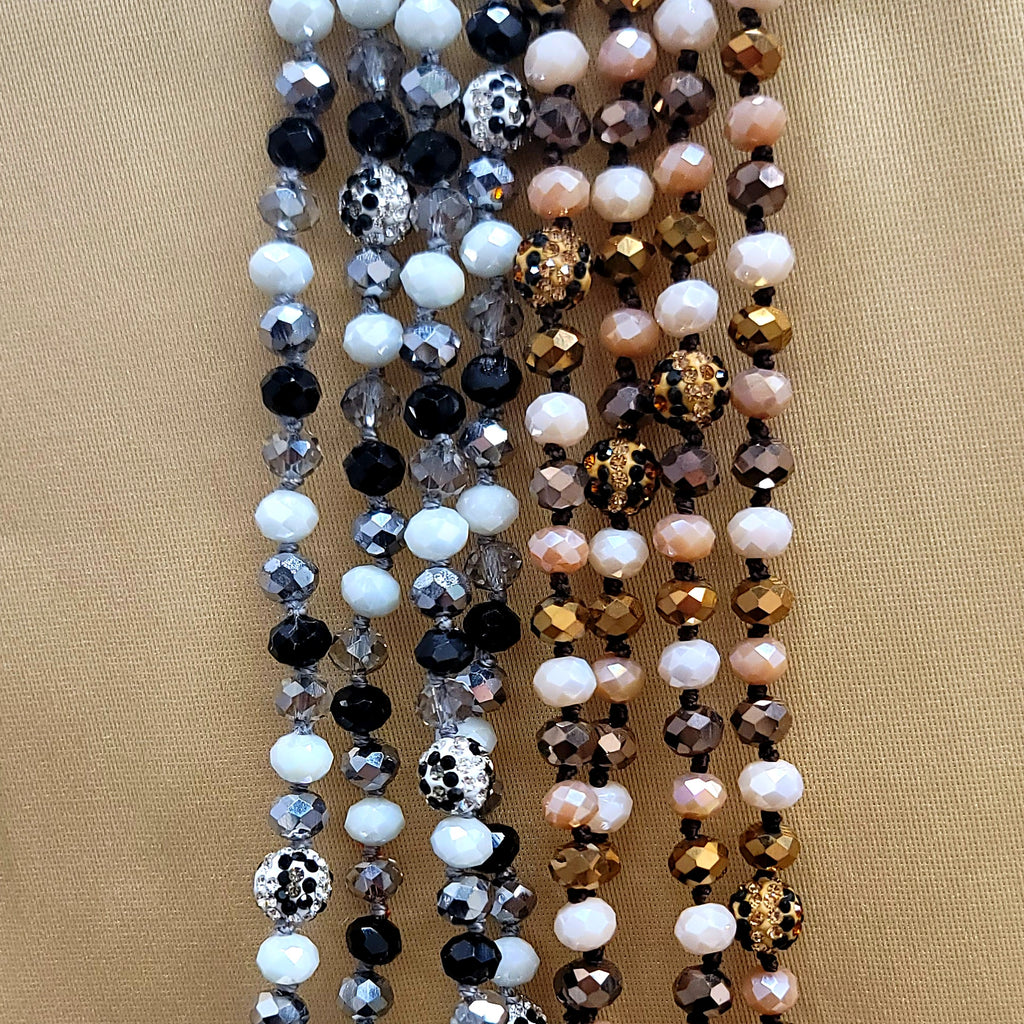 Jeweled Leopard Bead Necklaces