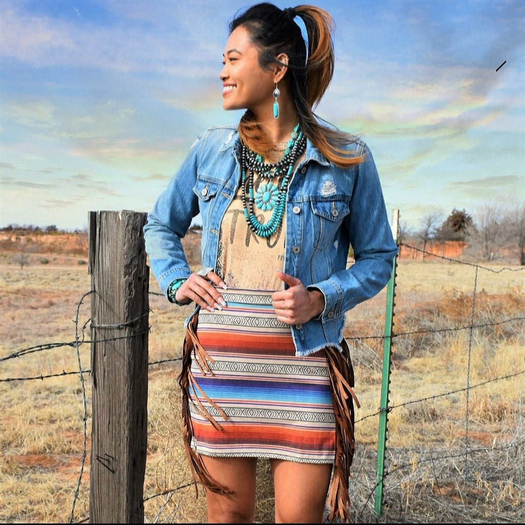 Sassy Serape Mini Skirt