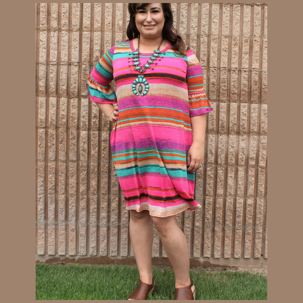 Plus Malibu Serape Dress
